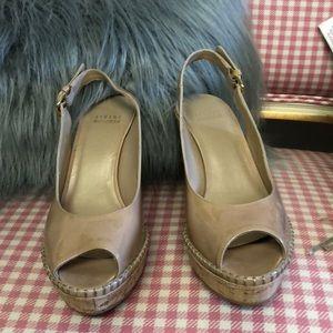 Stuart Weitzman Shoes - Stuart Weizmann nude patent leather wedges sz 7.5